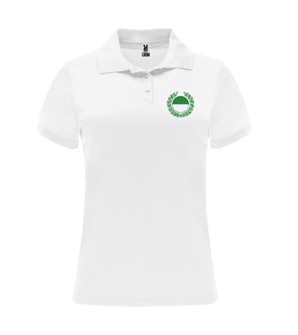 3) Funktions-Poloshirt / Damen - Weiss - Vorderseite