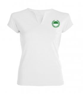 4) T-Shirt mit Ausschnitt/ Damen