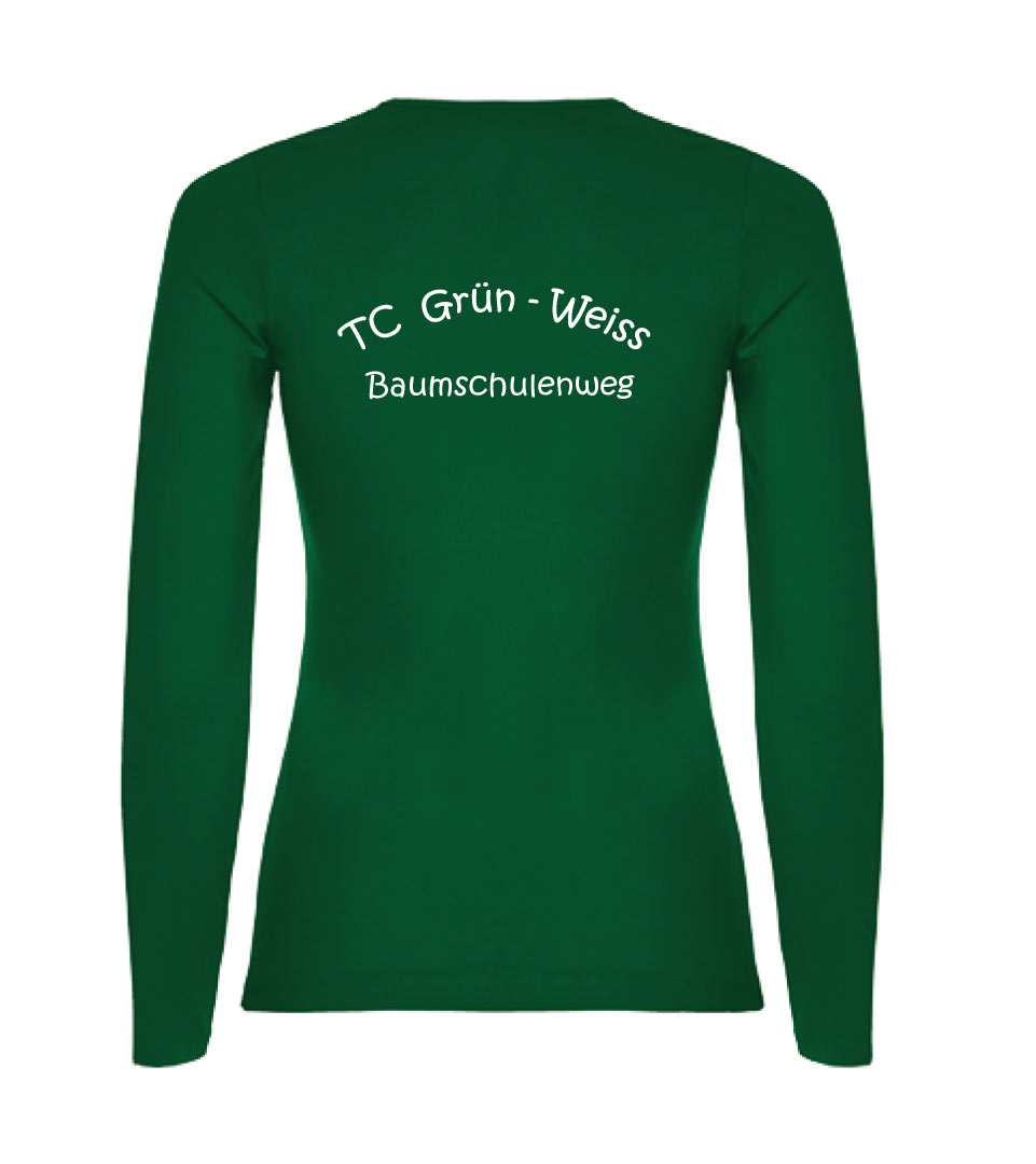5) Langarmshirt / Damen Baumwolle - Rückseite