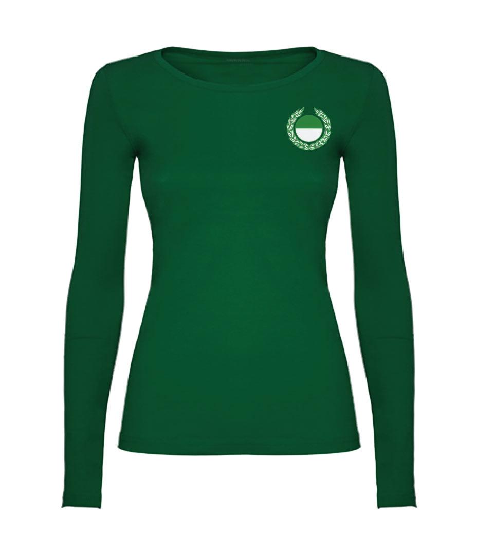 5) Langarmshirt / Damen Baumwolle - Vorderseite
