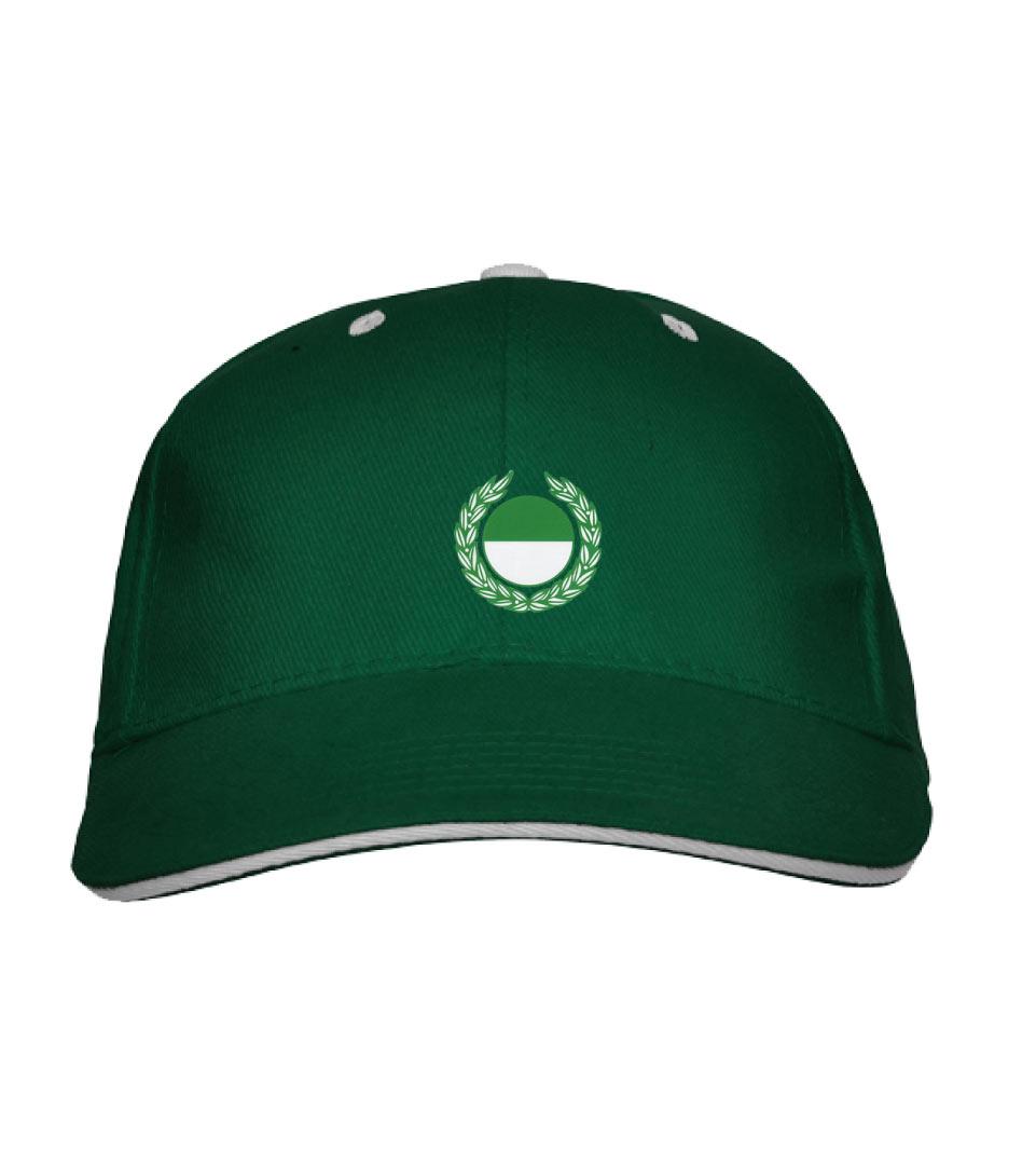 B) Basecap - grün