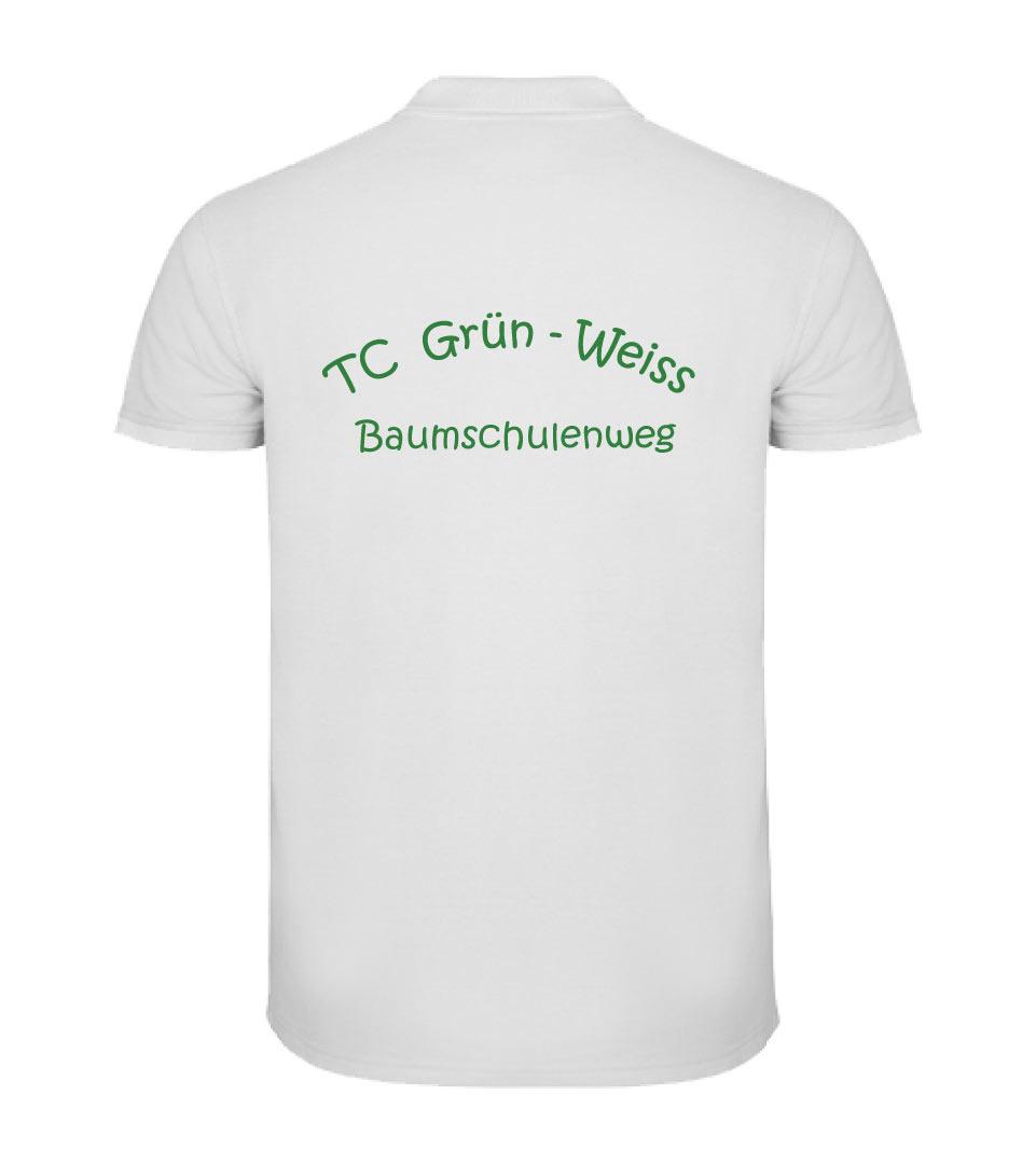 21) Polo - Shirt / Herren weiss Rückseite