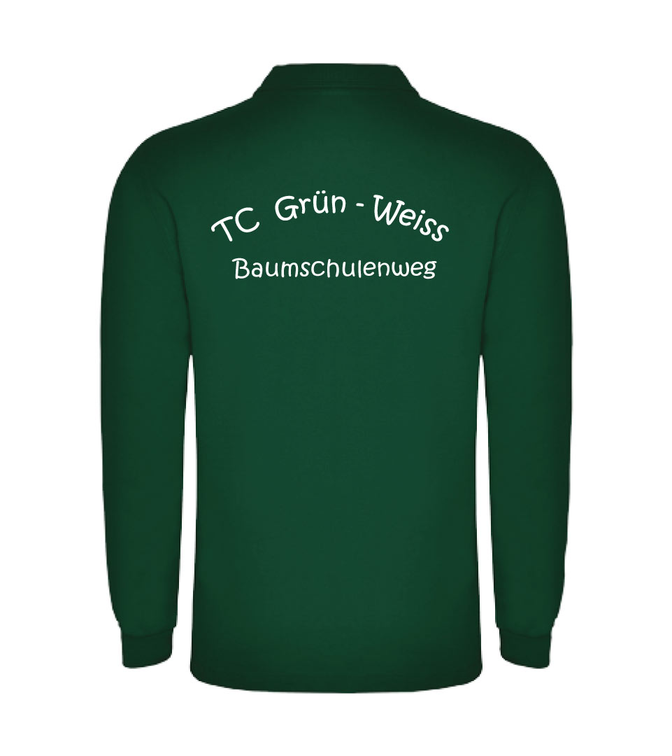25) Langarm - Poloshirt, Baumwoll - Pique / Herren - Rückseite