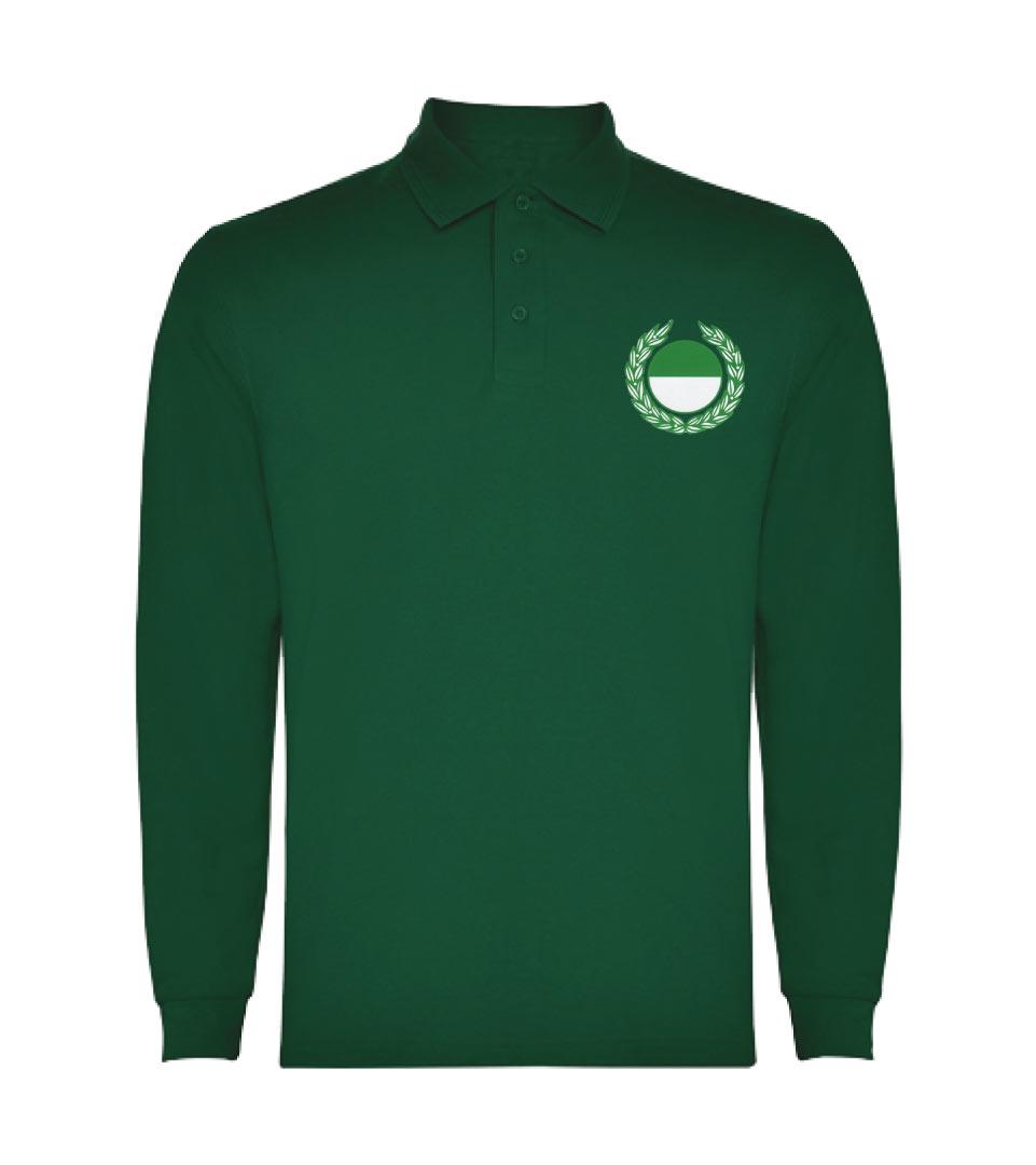 25) Langarm - Poloshirt, Baumwoll - Pique / Herren - Vorderseite